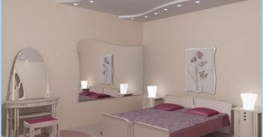 Konstrukcja sufitu gipsowo-kartonowe sypialnia ze zdjęciami