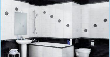 Konstrukcja czarno-białej łazience