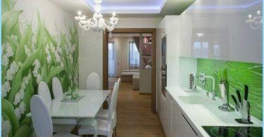 Zdjęcie ściany w kuchni, poszerzając przestrzeń