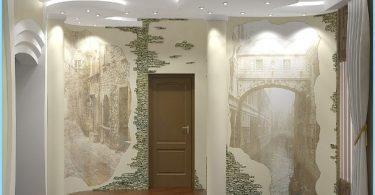 Projektowanie i wystrój hol wejściowy z kamienia dekoracyjnego