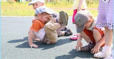 Okruchy powłoki gumowe do placów zabaw dla dzieci